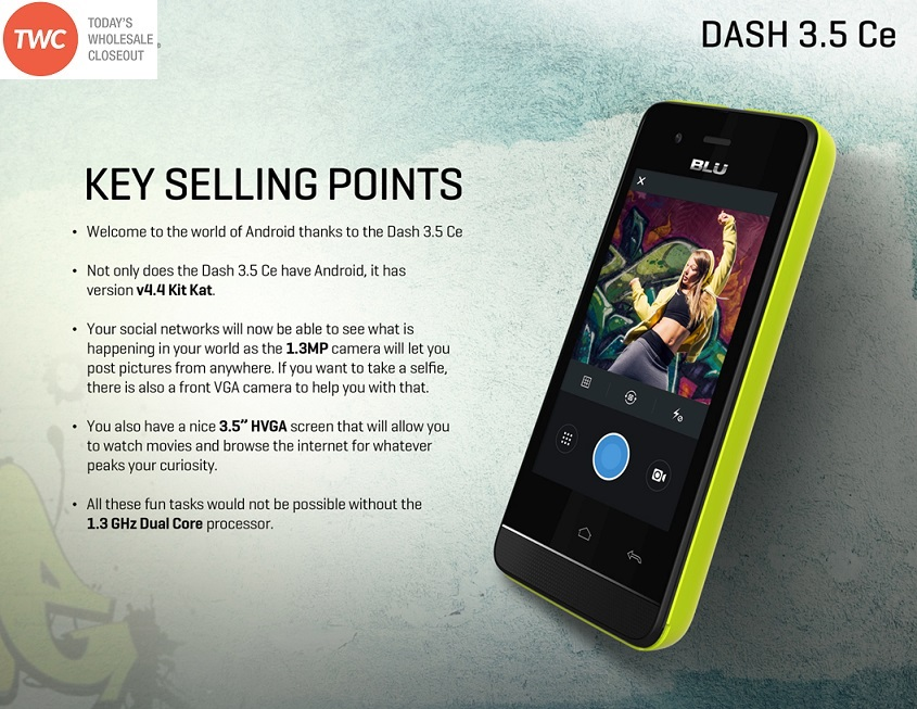 Introducing the all new DASH 3.5 CE Affordable and easy to catch up on all the latest shows. Featuring a 3.5 capacitive display, Android KIT-KAT, ...