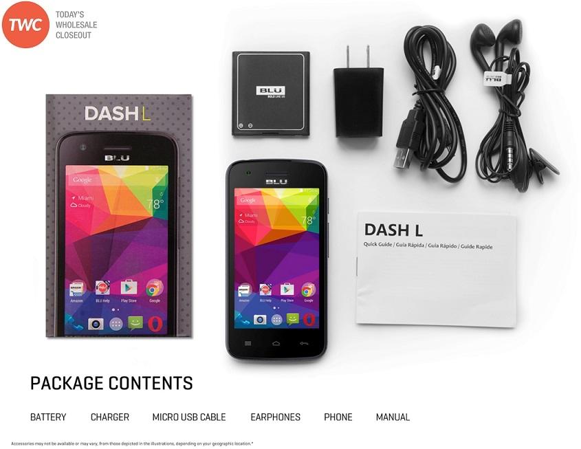 wholesale brand new dash l d050u 4g black gsm unlocked