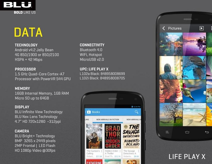 Wholesale Brand New Blu Life Play X L102a Black Gsm