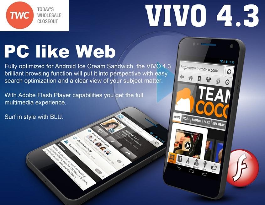 Wholesale Wholesale Brand New Blu Vivo 4 3 Hd D910a Pink