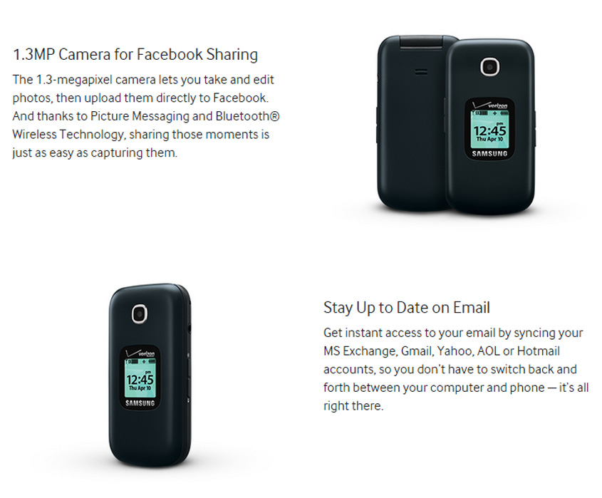 Wholesale Samsung Gusto 3 B311v Verizon Pageplus Locked Factory Refurbished Cell Phones