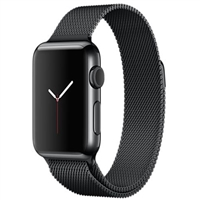 WholeSale APPLE MMFK2 Watch 38mm Space Black Stainless Steel Case with Space Black Milanese Loop