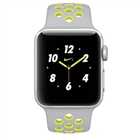 WholeSale APPLE MNYP2 Watch Nike+ 38mm Series 2 Silver Aluminum Case with Flat Silver/Volt Nike Sport Band Watch