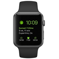 WholeSale APPLE MP032 Watch 42mm Space Gray Aluminum Case with Black Sport Band Watch