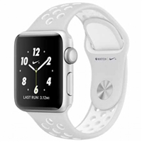 WholeSale APPLE MQ172 Watch Nike+ 38mm Silver Aluminum Case with Pure Platinum/White Nike Sport Band Watch
