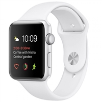 WholeSale Apple Watch Series 2 MNPJ2 42MM Silver Aluminium Case with White Sports Band Watch