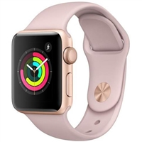 Wholesale Apple Watch Series 3 MQL22 42mm Gold / Pink