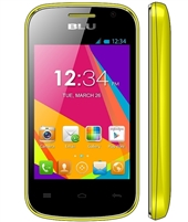New Blu Dash Jr W D141w Yellow Android Cell Phones