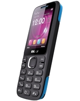 New Blu Zoey 2.4 T278 Black / Blue Cell Phones