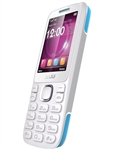 New Blu Zoey 2.4 T278 White / Blue Dual-Sim Cell Phones