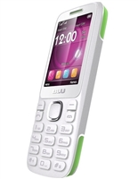 New Blu Zoey 2.4 T278 White / Lime Cell Phones