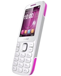 New Blu Zoey 2.4 T278 White / Pink Cell Phones