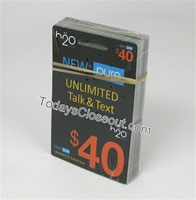 WHOLESALE H20 WIRELESS PREPAID UNLIMITED $40 TALK TEXT MONTHLY SERVICE CARD
