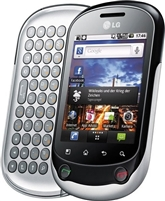 LG Optimus Chat C555 SILVER GSM Unlocked Cell Phones RB