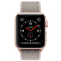 Apple Watch Series 3 MQK72 42mm Gold Aluminum Case With Pink Sand Sport Loop (GPS + Cellular)