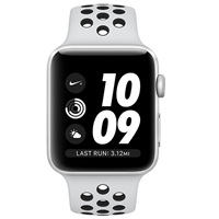 APPLE WATCH SERIES 3 NIKE MQKX2 APPLE WATCH SERIES 3 NIKE+, MQKX2 GPS 38MM SILVER ALUMINUM CAS