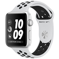 Wholesale Apple Watch Series 3 42mm Platinum Black Nike Sport Band MQL32