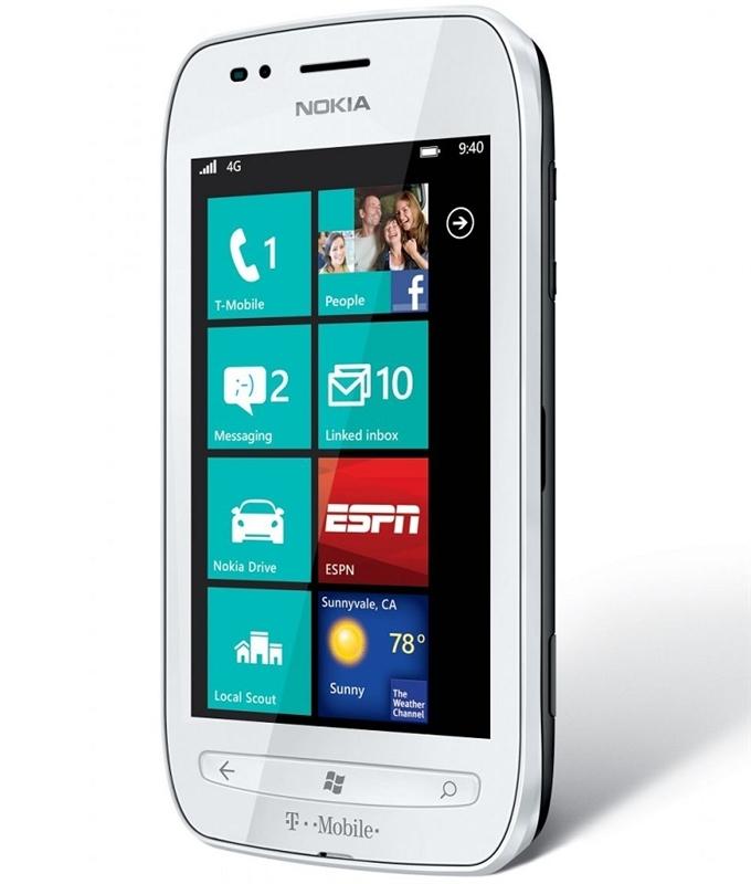 Wholesale cell phones new nokia lumia 710 4g white lte windows mobile