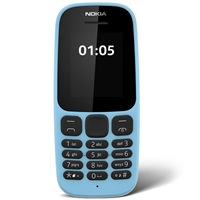 WholeSale Nokia 105 S/S Blue 2G, Single Sim Mobile Phone