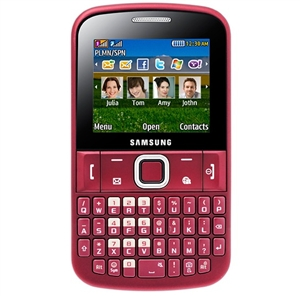 WHOLESALE NEW SAMSUNG SAMSUNG CH@T 222 E2222 RED DUAL-SIM GSM UNLOCKED