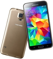Samsung Galaxy S5 G900a Gold 4G LTE Carrier Returns A-Stock Unlocked Cell Phones