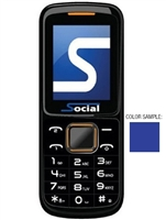 Wholesale Brand New Social Micro FB-203 Blue Unlocked Cell Phones