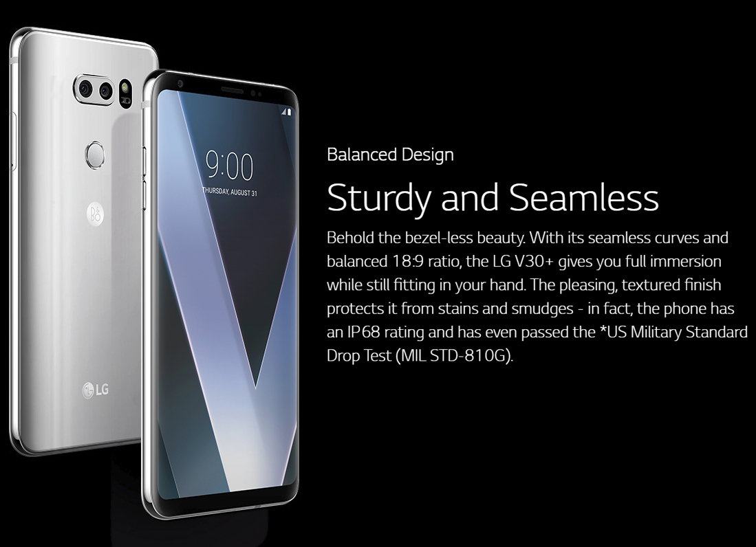 New LG V30 Plus 128GB Android Phone Wholesale | Silver