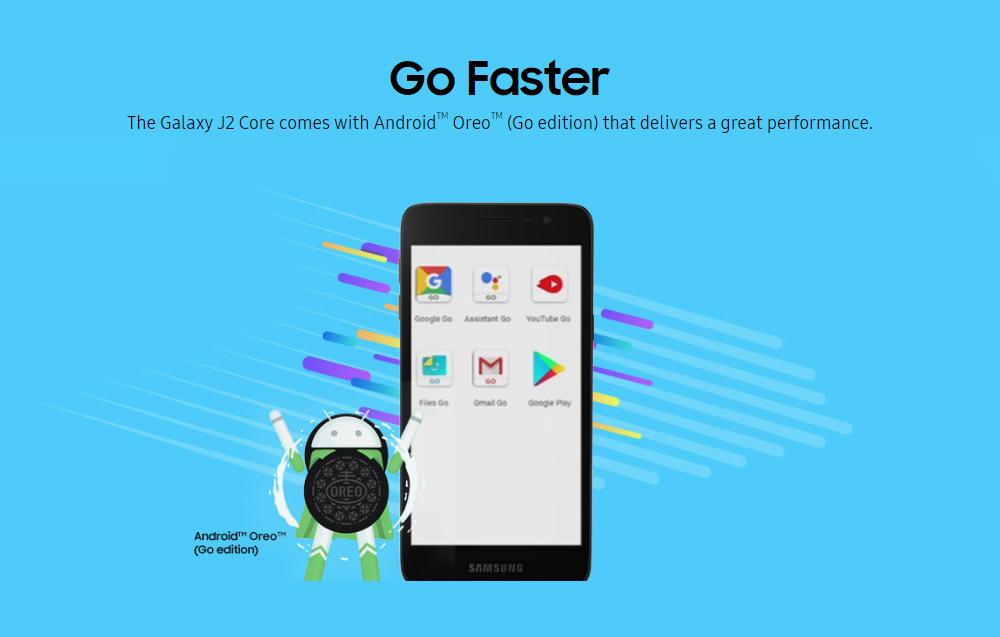 New Samsung J2 Core J260M Android Phone Wholesale   Black