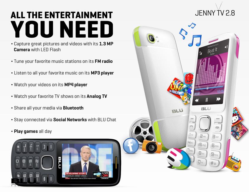 wholesale brand new blu jenny tv 2 8 t176t black  red gsm