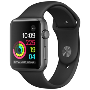 WholeSale APPLE MP022 Watch Sport 38mm Space Gray Aluminum Case with Black Sport Band Watch