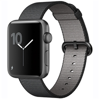 WholeSale APPLE MP072 Watch 42mm Series 2 Space Gray Aluminum Case with Black Woven Nylon Watch