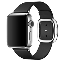 WholeSale Apple Watch 38mm Stainless Steel Case with Black Modern Buckle (MJYL2)