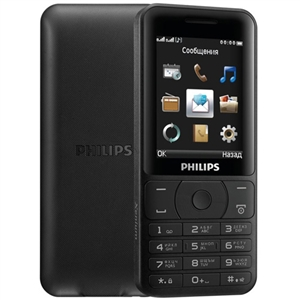 Wholesale Philips E180 FM Power 85 Days Dual SIM Black Cell Phone
