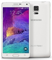 Samsung Galaxy Note 4 N910V 4G LTE White Verizon / PagePlus GSM Unlocked Cell Phones
