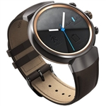 Wholesale ASUS ZenWatch 3 WI503Q-GL-DB 1.39-inch AMOLED Smart Watch with dark brown leather str